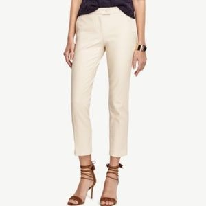 NWOT Ann Taylor Kate Cropped Pant color pearl sand